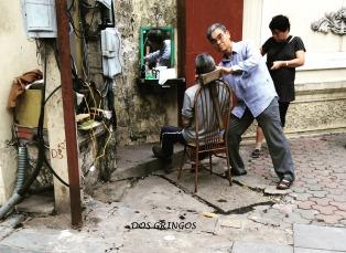 uliczny zakład fryzjerski