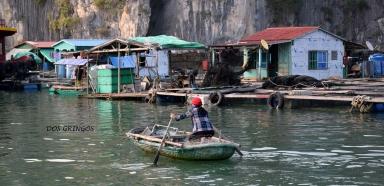 wioska na wodzie w zatoce