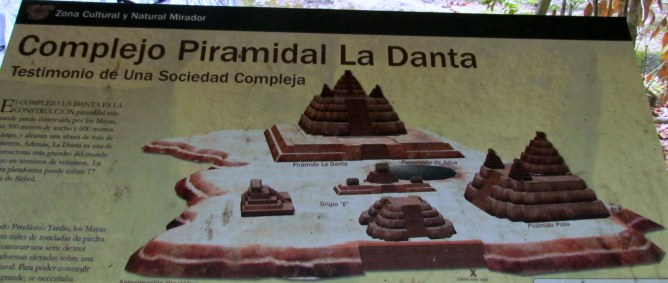 szkic piramidy La Danta