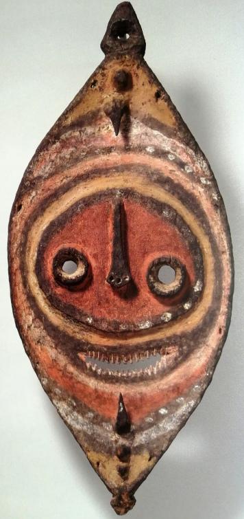 drewniana maska Garra lub Gra, południowy Sepik